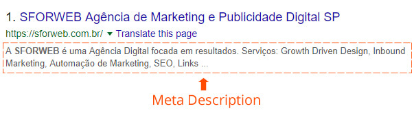 Meta description - exemplo