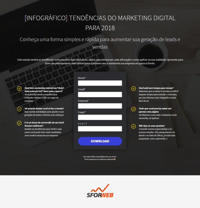 Ferramentas de Automação de Marketing - Landing Pages