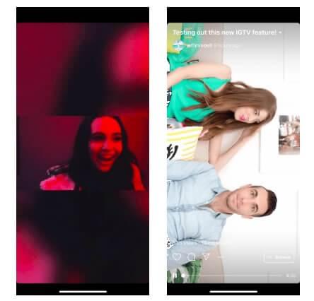 IGTV - Visualização de vídeos horizontais